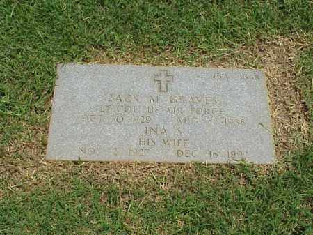 GRAVES (VETERAN 2 WARS), JACK M - Pulaski County, Arkansas | JACK M GRAVES (VETERAN 2 WARS) - Arkansas Gravestone Photos