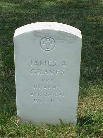 GRAVES (VETERAN WWI), JAMES A - Pulaski County, Arkansas | JAMES A GRAVES (VETERAN WWI) - Arkansas Gravestone Photos