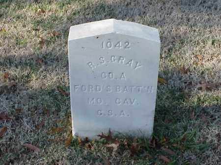 GRAY  (VETERAN CSA), R S - Pulaski County, Arkansas | R S GRAY  (VETERAN CSA) - Arkansas Gravestone Photos