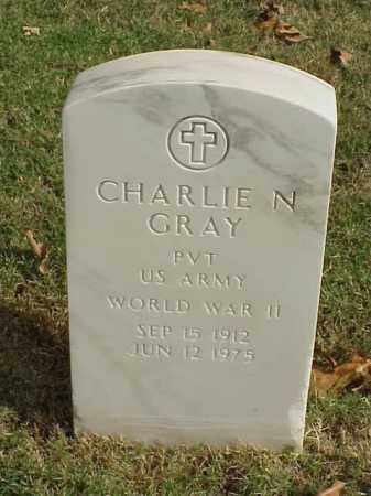 GRAY  (VETERAN WWII), CHARLIE N - Pulaski County, Arkansas | CHARLIE N GRAY  (VETERAN WWII) - Arkansas Gravestone Photos
