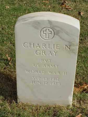 GRAY  (VETERAN WWII), CHARLIE N - Pulaski County, Arkansas | CHARLIE N GRAY  (VETERAN WWII) - Arkansas Gravestone Photos