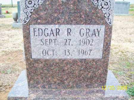 GRAY, EDGAR R - Pulaski County, Arkansas | EDGAR R GRAY - Arkansas Gravestone Photos