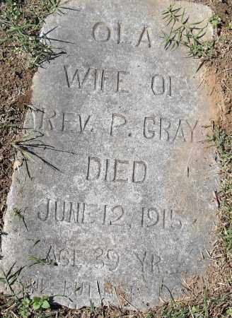GRAY, OLA - Pulaski County, Arkansas | OLA GRAY - Arkansas Gravestone Photos