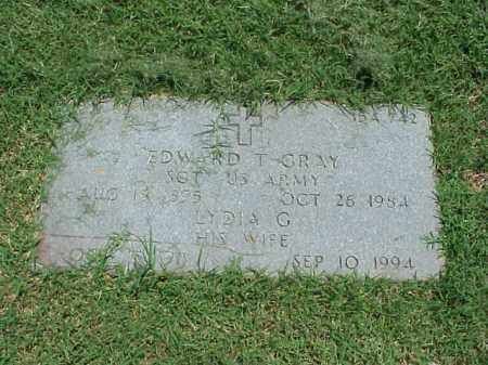 GRAY (VETERAN WWI), EDWARD T - Pulaski County, Arkansas | EDWARD T GRAY (VETERAN WWI) - Arkansas Gravestone Photos