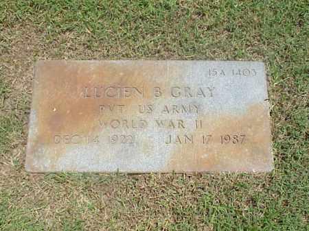GRAY (VETERAN WWII), LUCIEN B - Pulaski County, Arkansas | LUCIEN B GRAY (VETERAN WWII) - Arkansas Gravestone Photos