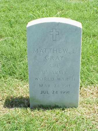 GRAY (VETERAN WWII), MATTHEW L - Pulaski County, Arkansas | MATTHEW L GRAY (VETERAN WWII) - Arkansas Gravestone Photos