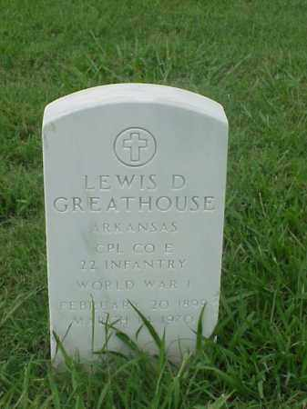 GREATHOUSE (VETERAN WWI), LEWIS D - Pulaski County, Arkansas | LEWIS D GREATHOUSE (VETERAN WWI) - Arkansas Gravestone Photos