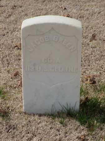 GREEN  (VETERAN UNION), JACOB - Pulaski County, Arkansas | JACOB GREEN  (VETERAN UNION) - Arkansas Gravestone Photos