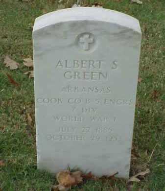 GREEN  (VETERAN WWI), ALBERT S - Pulaski County, Arkansas | ALBERT S GREEN  (VETERAN WWI) - Arkansas Gravestone Photos