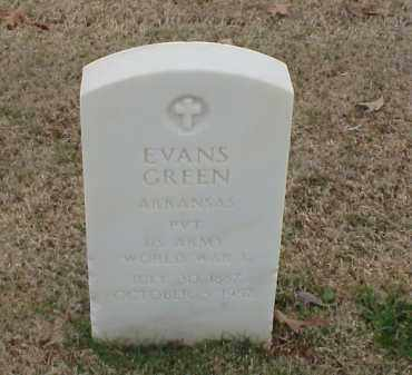 GREEN  (VETERAN WWI), EVANS - Pulaski County, Arkansas | EVANS GREEN  (VETERAN WWI) - Arkansas Gravestone Photos