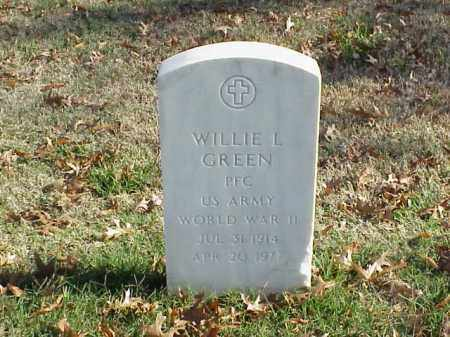 GREEN  (VETERAN WWII), WILLIE L - Pulaski County, Arkansas | WILLIE L GREEN  (VETERAN WWII) - Arkansas Gravestone Photos