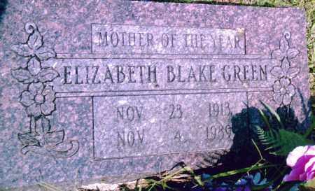GREEN, ELIZABETH - Pulaski County, Arkansas | ELIZABETH GREEN - Arkansas Gravestone Photos