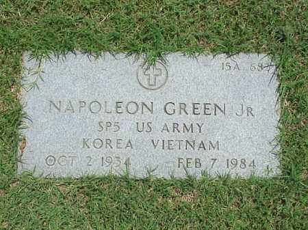 GREEN, JR (VETERAN 2 WARS), NAPOLEON - Pulaski County, Arkansas | NAPOLEON GREEN, JR (VETERAN 2 WARS) - Arkansas Gravestone Photos