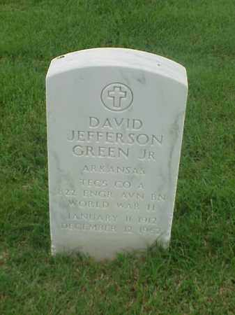 GREEN, JR (VETERAN WWII), DAVID JEFFERSON - Pulaski County, Arkansas | DAVID JEFFERSON GREEN, JR (VETERAN WWII) - Arkansas Gravestone Photos