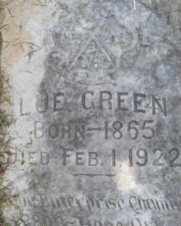 GREEN, LUE - Pulaski County, Arkansas | LUE GREEN - Arkansas Gravestone Photos