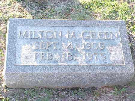 GREEN, MILTON M - Pulaski County, Arkansas | MILTON M GREEN - Arkansas Gravestone Photos