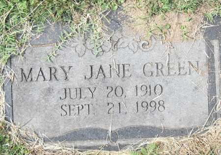 GREEN, MARY JANE - Pulaski County, Arkansas | MARY JANE GREEN - Arkansas Gravestone Photos