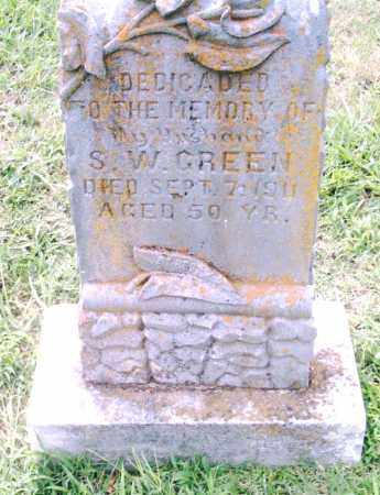 GREEN, S. W. - Pulaski County, Arkansas | S. W. GREEN - Arkansas Gravestone Photos