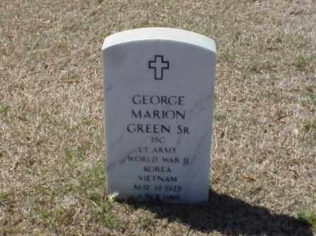 GREEN, SR (VETERAN 3 WARS), GEORGE MARION - Pulaski County, Arkansas | GEORGE MARION GREEN, SR (VETERAN 3 WARS) - Arkansas Gravestone Photos