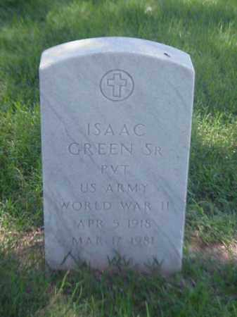 GREEN, SR (VETERAN WWII), ISAAC - Pulaski County, Arkansas | ISAAC GREEN, SR (VETERAN WWII) - Arkansas Gravestone Photos