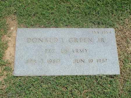 GREEN, JR (VETERAN), DONALD L - Pulaski County, Arkansas | DONALD L GREEN, JR (VETERAN) - Arkansas Gravestone Photos