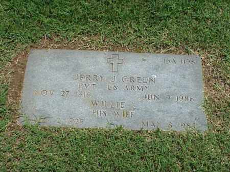 GREEN, WILLIE L - Pulaski County, Arkansas | WILLIE L GREEN - Arkansas Gravestone Photos