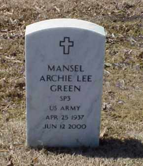 GREEN (VETERAN), MANSEL ARCHIE LEE - Pulaski County, Arkansas | MANSEL ARCHIE LEE GREEN (VETERAN) - Arkansas Gravestone Photos