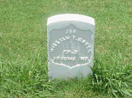 GREEN (VETERAN UNIION), WILLIAM T - Pulaski County, Arkansas | WILLIAM T GREEN (VETERAN UNIION) - Arkansas Gravestone Photos