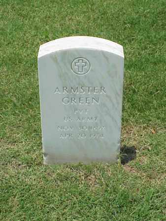 GREEN (VETERAN WWI), ARMSTER - Pulaski County, Arkansas | ARMSTER GREEN (VETERAN WWI) - Arkansas Gravestone Photos