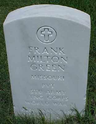 GREEN (VETERAN WWI), FRANK MILTON - Pulaski County, Arkansas | FRANK MILTON GREEN (VETERAN WWI) - Arkansas Gravestone Photos