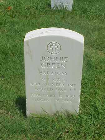 GREEN (VETERAN WWI), JOHNIE - Pulaski County, Arkansas | JOHNIE GREEN (VETERAN WWI) - Arkansas Gravestone Photos