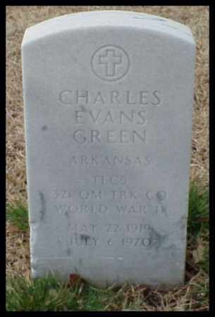 GREEN (VETERAN WWII), CHARLES EVANS - Pulaski County, Arkansas | CHARLES EVANS GREEN (VETERAN WWII) - Arkansas Gravestone Photos
