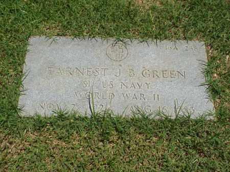 GREEN (VETERAN WWII), EARNEST J B - Pulaski County, Arkansas | EARNEST J B GREEN (VETERAN WWII) - Arkansas Gravestone Photos