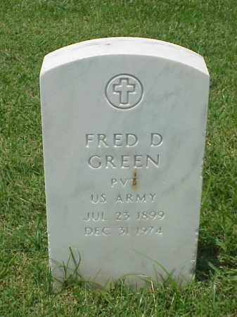 GREEN (VETERAN WWII), FRED D - Pulaski County, Arkansas | FRED D GREEN (VETERAN WWII) - Arkansas Gravestone Photos