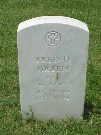 GREEN (VETERAN WWII), FRED D - Pulaski County, Arkansas | FRED D GREEN (VETERAN WWII) - Arkansas Gravestone Photos