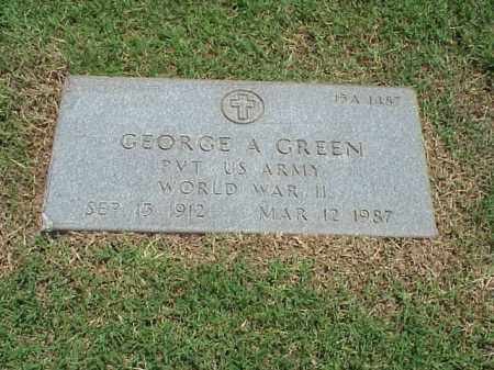 GREEN (VETERAN WWII), GEORGE A - Pulaski County, Arkansas | GEORGE A GREEN (VETERAN WWII) - Arkansas Gravestone Photos