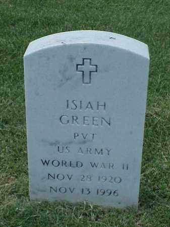GREEN (VETERAN WWII), ISIAH - Pulaski County, Arkansas | ISIAH GREEN (VETERAN WWII) - Arkansas Gravestone Photos