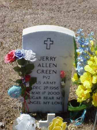 GREEN (VETERAN), JERRY ALLEN - Pulaski County, Arkansas | JERRY ALLEN GREEN (VETERAN) - Arkansas Gravestone Photos