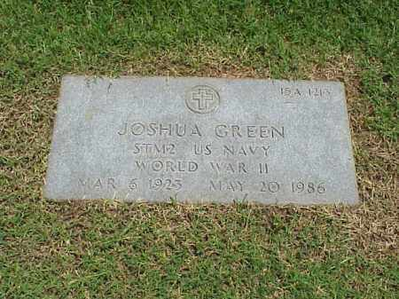 GREEN (VETERAN WWII), JOSHUA - Pulaski County, Arkansas | JOSHUA GREEN (VETERAN WWII) - Arkansas Gravestone Photos