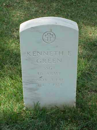 GREEN (VETERAN WWII), KENNETH E - Pulaski County, Arkansas | KENNETH E GREEN (VETERAN WWII) - Arkansas Gravestone Photos