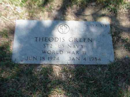 GREEN (VETERAN WWII), THEODIS - Pulaski County, Arkansas | THEODIS GREEN (VETERAN WWII) - Arkansas Gravestone Photos