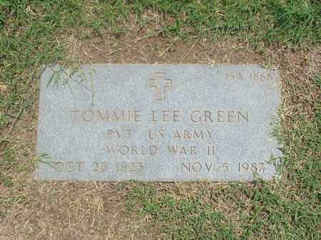 GREEN (VETERAN WWII), TOMMIE LEE - Pulaski County, Arkansas | TOMMIE LEE GREEN (VETERAN WWII) - Arkansas Gravestone Photos