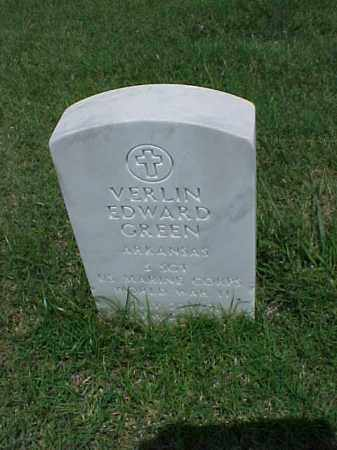 GREEN (VETERAN WWII), VERLIN EDWARD - Pulaski County, Arkansas | VERLIN EDWARD GREEN (VETERAN WWII) - Arkansas Gravestone Photos