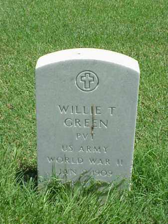 GREEN (VETERAN WWII), WILLIE T - Pulaski County, Arkansas | WILLIE T GREEN (VETERAN WWII) - Arkansas Gravestone Photos
