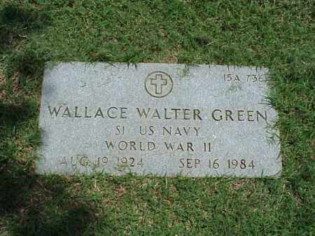 GREEN (VETERAN WWII), WALLACE WALTER - Pulaski County, Arkansas | WALLACE WALTER GREEN (VETERAN WWII) - Arkansas Gravestone Photos