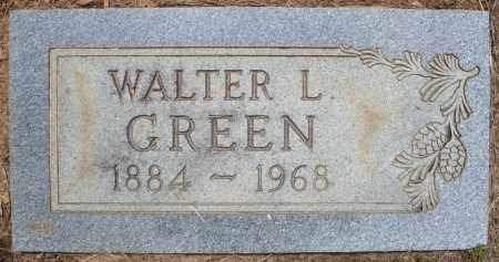 GREEN, WALTER L. - Pulaski County, Arkansas | WALTER L. GREEN - Arkansas Gravestone Photos