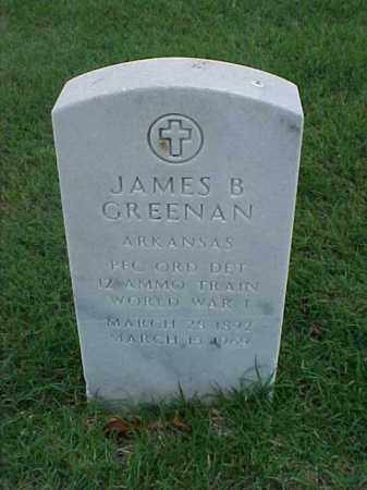 GREENAN (VETERAN WWI), JAMES B - Pulaski County, Arkansas | JAMES B GREENAN (VETERAN WWI) - Arkansas Gravestone Photos