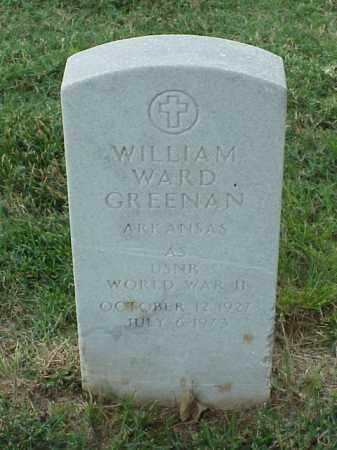 GREENAN (VETERAN WWII), WILLIAM WARD - Pulaski County, Arkansas | WILLIAM WARD GREENAN (VETERAN WWII) - Arkansas Gravestone Photos