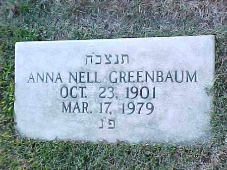 GREENBAUM, ANNA NELL - Pulaski County, Arkansas | ANNA NELL GREENBAUM - Arkansas Gravestone Photos