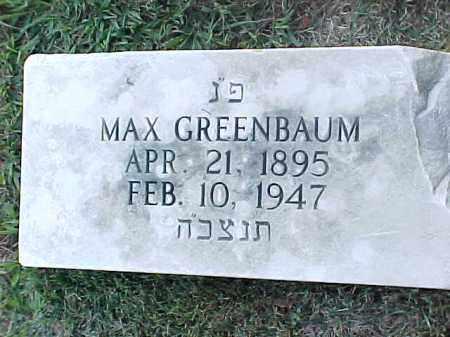 GREENBAUM, MAX - Pulaski County, Arkansas | MAX GREENBAUM - Arkansas Gravestone Photos